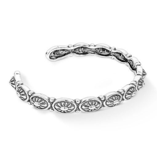 Sterling Silver Concha Stackable Cuff Bracelet