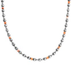 Sterling Silver Spiny Oyster Beaded Necklace