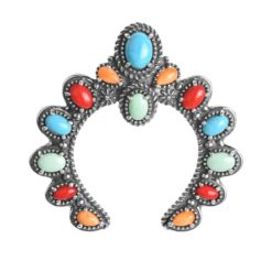 Sterling Silver Multi Gemstone Naja Pendant