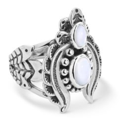 Sterling Silver Mother of Pearl Naja Ring