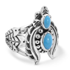 Sterling Silver Turquoise Gemstone Naja Ring
