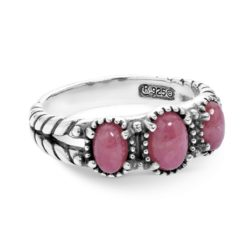 Sterling Silver Pink Rhodonite Gemstones Ring