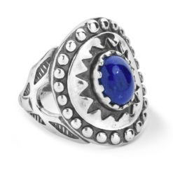 Sterling Silver Blue Lapis Ancient Wisdom Ring